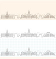 cambridge hand drawn skyline vector image vector image