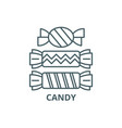 candy line icon candy outline sign vector image vector image