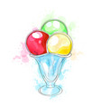 cartoon cute ice cream vector image
