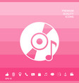cd dvd with music symbol vector image vector image
