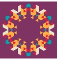 Circular geometric background vector image vector image