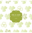 clover geometric textile textured frame seamless vector image