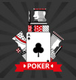 club ace jack king and queen cards playing poker vector image vector image