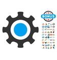 Cogwheel Icon With 2017 Year Bonus Pictograms vector image vector image