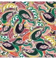 Colorful Indian paisley seamless background vector image