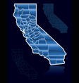 counties of california vector image vector image