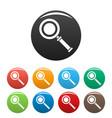 cursor magnifier icons set color vector image vector image