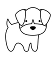 cute dog kawaii style vector image vector image