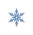 cute snowflake line icon concept cute snowflake vector image vector image