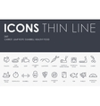 Diet Thin Line Icons vector image