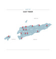 east timor map with red pin vector image