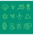 Ecology organic icons eco and bio elements in hand vector image vector image