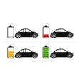 Electric Car Icons vector image