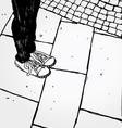 feet vector image vector image