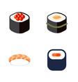 flat icon maki set of seafood sushi maki and vector image vector image