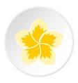 Frangipani flower icon flat style vector image vector image