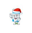 friendly medical bottle santa with ok finger vector image vector image