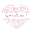 Get well soon Friendly vintage card with vector image vector image