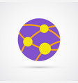 globe network trendy symbol trendy colored vector image