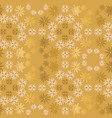 golden and light pink snowflake simple ornamental vector image