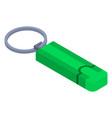 green usb flash icon isometric style vector image