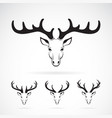 group of deer head design on white background vector image