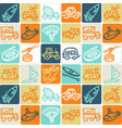 hand drawn icons set - transport 3 vector image