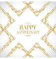 happy anniversary gatsby vector image vector image