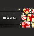 happy new year holiday web banner vector image vector image