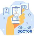 healthcare concept web page communication app vector image vector image