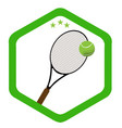 isolated tennis emblem vector image vector image