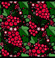 khokhloma floral seamless pattern with berries vector image vector image