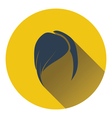 Ladys hairstyle icon vector image