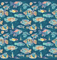 magic sea life pattern vector image vector image