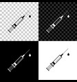 medical syringe with needle and drop icon vector image vector image