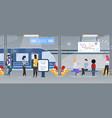 modern city subway underground station flat vector image