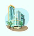 modern cityscape architecture city vector image vector image