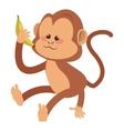 monkey cartoon icon vector image vector image