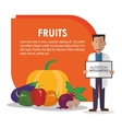 nutrition infographic food icon vector image vector image