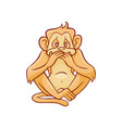 one of three wise monkeys vector image vector image