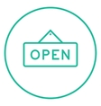 Open sign line icon vector image