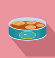 open tuna can icon flat style vector image vector image