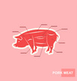 poster cut of pork meat set vector image