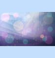purple and pink bokeh abstract background vector image