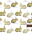 rabbit hare pattern watercolor vector image vector image