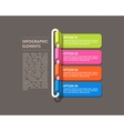 Rolled infographics options banner vector image vector image