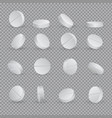 round white medical pills in different positions vector image vector image