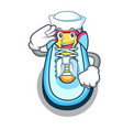 sailor classic sneaker character style vector image