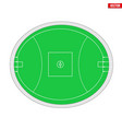 sample australian rules football field vector image vector image