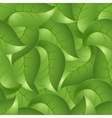 Seamless background from leaves a vector image vector image